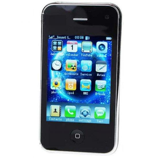 "WIFI-I9 3.2"" Touch Screen Dual SIM Dual Network Standby Quadband GSM Cell Phone w/WiFi + JAVA"