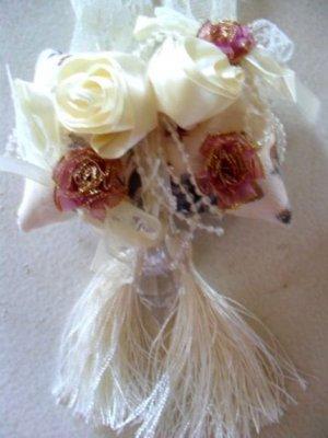 Pillow Ribbon Rose Silk Curtain Tiebacks (Pair)