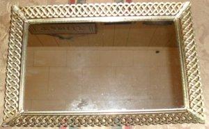 Gold Filigree Dresser/Vanity Tray