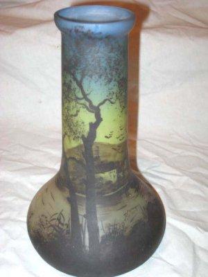 European Art Glassvaselamp Basep Jostcirca 1920