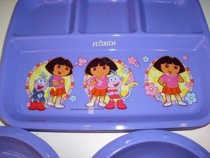 Dora The Explorer 4 section divided plate