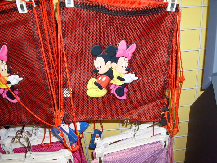 Mickey and Minnie Sling Back Pack/Tote