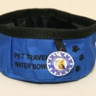 Large Dog/Pet Travel Water Bowl ~Blue ~ NEW!