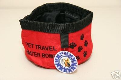 Veterinarian's Choice Dog/Pet Travel Water Bowl ~RED