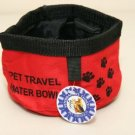 Veterinarian's Choice Dog/Pet Travel Water Bowl ~RED