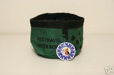 Veterinarian's Choice Dog/Pet Travel Water Bowl ~Green