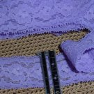 Lingerie Stretch Lace -  purple  - 1-1/4  in  x  4 yds