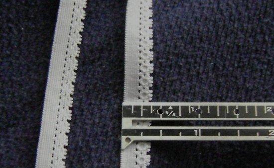Lingerie Soft Elastic - grey color  - 3/8 in x 4 yds
