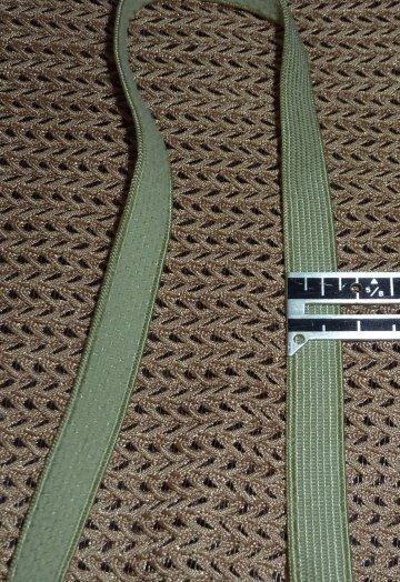 Lingerie Bra Strap Elastic -  sage green - 3/8 in  x 4 yds