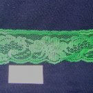 Flat  lace  -  kelly green , 2  inch width  x  4 yards