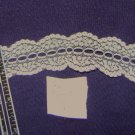 Flat beading lace - cream color, 1-1/2 inch width x 4 yd