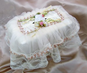 Large Lace Tissue Box Cover ATC-58
