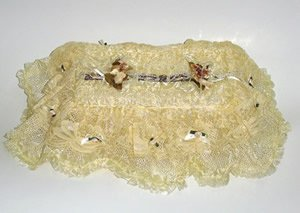Vintage Victorian Lace Tissue Box Cover ATC 71