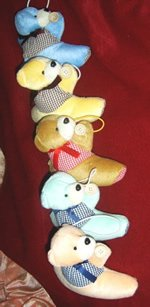 Children Curtain Tie Backs - Teddy Vested Bears CT 23