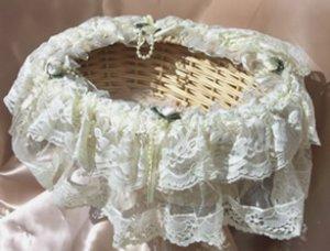 Storage Lace Baskets LB33 Candelight Cream
