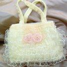 Victorian Lace Purse-Handbag- Baby Cream  LP23