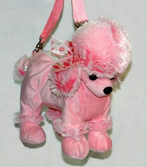 Poodle Handbag Purse For Children Pink Small Pb25