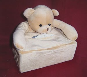 Children Tissue Box Cover Large- Bear  CTC 29