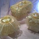 Vintage Victorian Lace Tissue Box Cover large+roll Cover  SET ATC26
