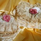 Vintage Victorian Lace Tissue Box Cover large+small  SET ATC75