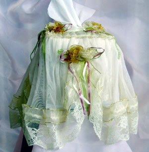 Vintage Victorian Lace Tissue Box Cover ATC 52- Small