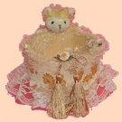 Children Organizer Lace Baskets LB23 small- Peeking Bear Basket