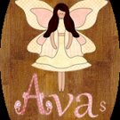 Baby girl bathtime personalized name wood plaque/sign 7 X 5 (F)