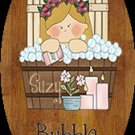 Toddler girl - Baby girl, bathtime personalized wall wood plaque-sign 8 X 10 (C), decor idea