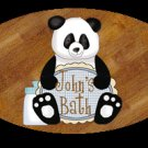 Little boy/Baby boy bathtime personalized name wood plaque/sign 7 X 5 (I-blue)