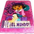 Dora the explorer Disney twin - full size MINK  blanket NEW!