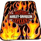 Harley Davidson with Flames twin - full size MINK  blanket NEW!