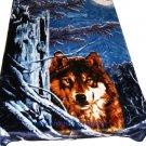 QUEEN KOREAN style MINK Wolf blanket NEW!