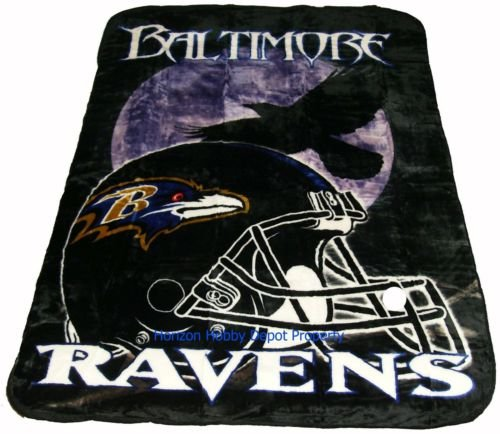 New NFL Baltimore Ravens Plush Mink Blanket Twin - Full