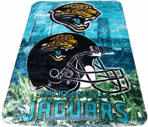 New NFL Jacksonville Jaguars Plush Mink Blanket Twin - Full