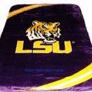 New Football Louisana State LSU Tigers Plush Mink Blanket Twin - Full