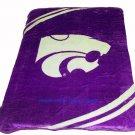New Football Kansas State Wildcats Plush Mink Blanket Twin - Full