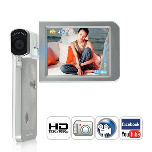 1080P HD Camcorder (Pre-Record, Motion Detect, Full HD, More)