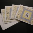 """Monogram Cards """"A"""" (Blue/Yellow) Value Pack"""