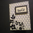 """""""a mother's love"""" Mother's Day Card (Black/Ivory)"""