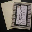 """Celebrate"" Graduation Card (Black/Ivory)"