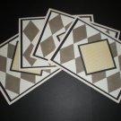 Monogram Cards (Black/Ivory Diamonds)