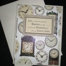 Clocks All Occasion Greeting Card (Brown/Beige - large)