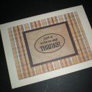 Thank You Note (Brown/Beige)