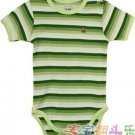 Baby Gap Stripe Print Romper (Green)