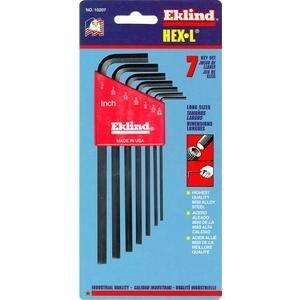 Eklind Tool (EKL10207) 7 Piece SAE Long 5/64-1/4in. Hex Key Set