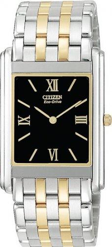 Citizen AR1004-51E Two Tone Stiletto Black Dial Men's