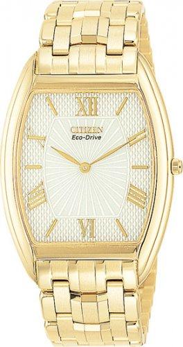 Citizen AR1032-55A Stiletto Gold Tone White Dial Eco-Drive Men's