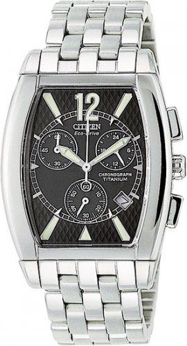 Citizen AT0080-56E Titanium San Remo Chronograph Black Dial Men's