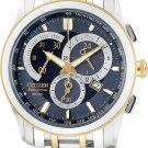 Citizen AT1004-59L Eco-Drive Two Tone Calibre 5700 Blue Dial Men's