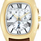 Citizen AT1012-00A Gold Tone Eco-Drive Calibre 5700 White Dial Strap Men's